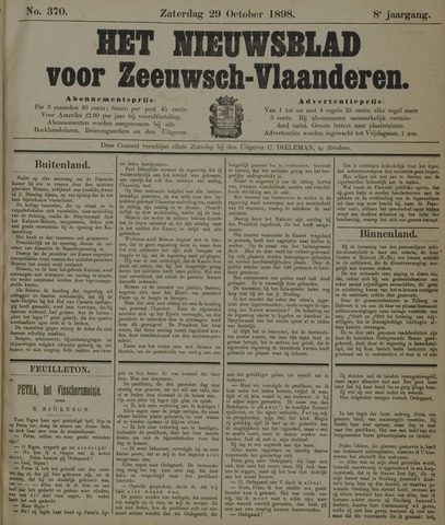 Nieuwsblad voor Zeeuwsch-Vlaanderen 1898-10-29