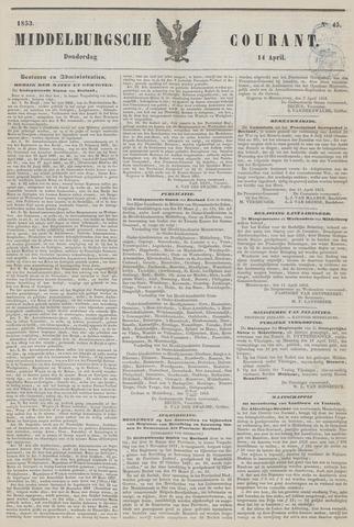 Middelburgsche Courant 1853-04-14
