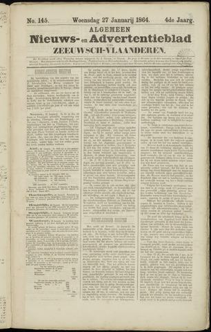 Ter Neuzensche Courant. Algemeen Nieuws- en Advertentieblad voor Zeeuwsch-Vlaanderen / Neuzensche Courant ... (idem) / (Algemeen) nieuws en advertentieblad voor Zeeuwsch-Vlaanderen 1864-01-27