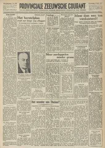 Provinciale Zeeuwse Courant 1947-07-16
