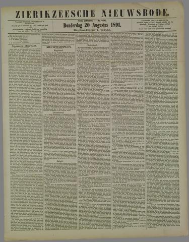 Zierikzeesche Nieuwsbode 1891-08-20
