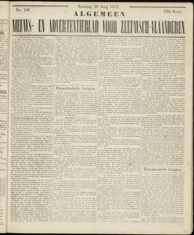 Ter Neuzensche Courant. Algemeen Nieuws- en Advertentieblad voor Zeeuwsch-Vlaanderen / Neuzensche Courant ... (idem) / (Algemeen) nieuws en advertentieblad voor Zeeuwsch-Vlaanderen 1872-06-29