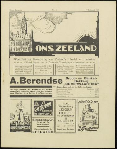 Ons Zeeland / Zeeuwsche editie 1926-02-19