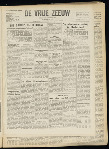de Vrije Zeeuw 1950-08-22