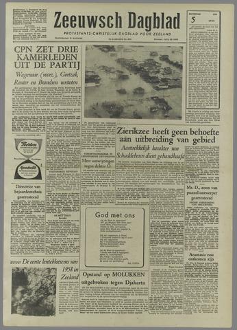Zeeuwsch Dagblad 1958-04-05