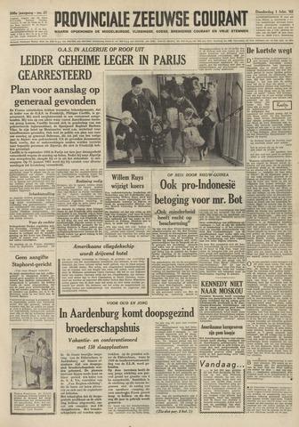 Provinciale Zeeuwse Courant 1962-02-01