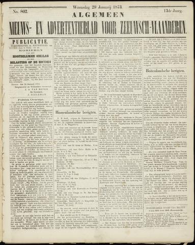 Ter Neuzensche Courant. Algemeen Nieuws- en Advertentieblad voor Zeeuwsch-Vlaanderen / Neuzensche Courant ... (idem) / (Algemeen) nieuws en advertentieblad voor Zeeuwsch-Vlaanderen 1873-01-29