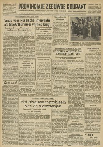 Provinciale Zeeuwse Courant 1951-04-07