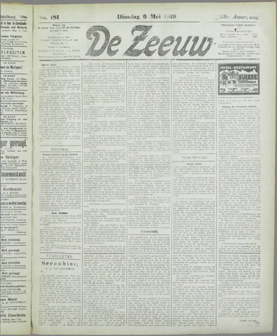 De Zeeuw. Christelijk-historisch nieuwsblad voor Zeeland 1919-05-06