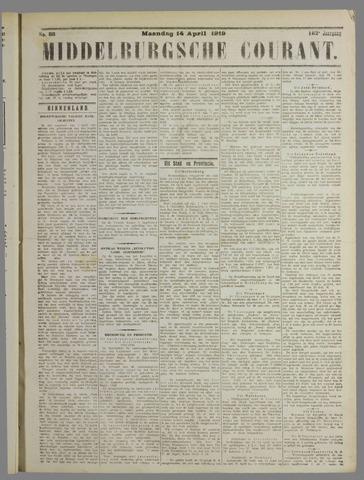 Middelburgsche Courant 1919-04-14
