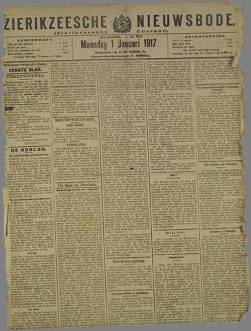 Zierikzeesche Nieuwsbode 1917