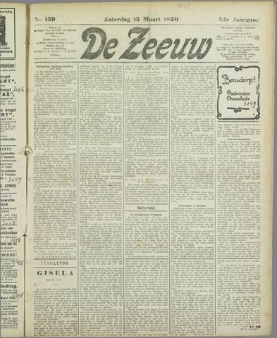 De Zeeuw. Christelijk-historisch nieuwsblad voor Zeeland 1920-03-13