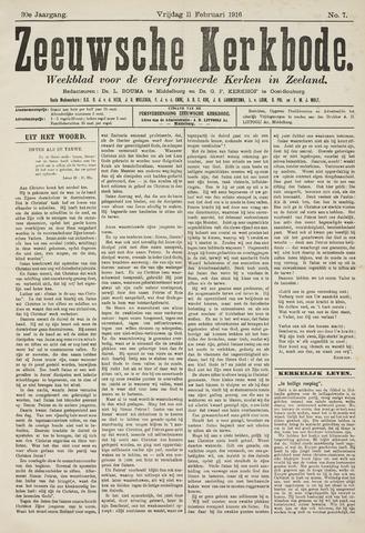 Zeeuwsche kerkbode, weekblad gewijd aan de belangen der gereformeerde kerken/ Zeeuwsch kerkblad 1916-02-11