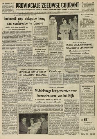 Provinciale Zeeuwse Courant 1956-01-17
