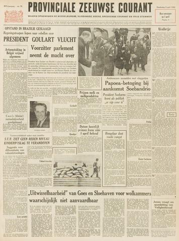Provinciale Zeeuwse Courant 1964-04-02