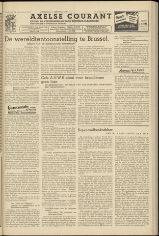 Axelsche Courant 1958-02-08