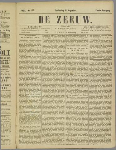 De Zeeuw. Christelijk-historisch nieuwsblad voor Zeeland 1890-08-21
