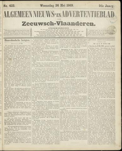 Ter Neuzensche Courant. Algemeen Nieuws- en Advertentieblad voor Zeeuwsch-Vlaanderen / Neuzensche Courant ... (idem) / (Algemeen) nieuws en advertentieblad voor Zeeuwsch-Vlaanderen 1869-05-26