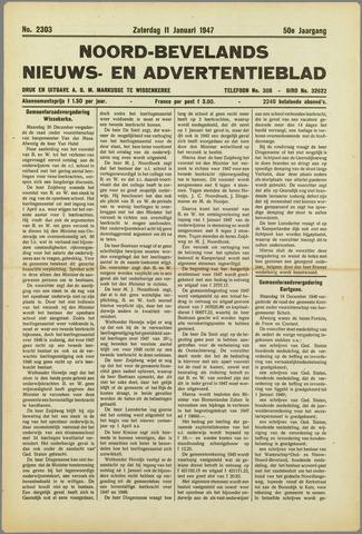 Noord-Bevelands Nieuws- en advertentieblad 1947-01-11