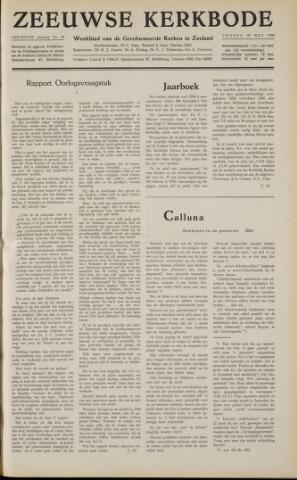 Zeeuwsche kerkbode, weekblad gewijd aan de belangen der gereformeerde kerken/ Zeeuwsch kerkblad 1958-05-30