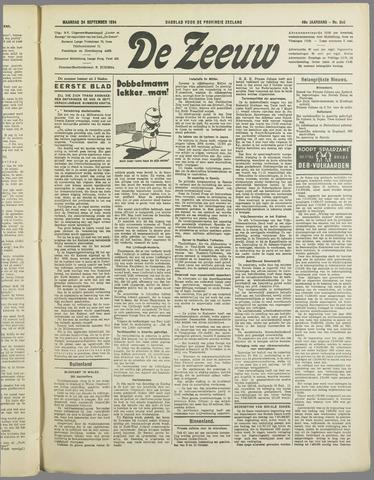 De Zeeuw. Christelijk-historisch nieuwsblad voor Zeeland 1934-09-24