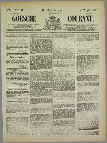 Goessche Courant 1885-05-05