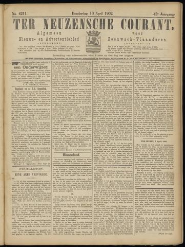 Ter Neuzensche Courant. Algemeen Nieuws- en Advertentieblad voor Zeeuwsch-Vlaanderen / Neuzensche Courant ... (idem) / (Algemeen) nieuws en advertentieblad voor Zeeuwsch-Vlaanderen 1902-04-10
