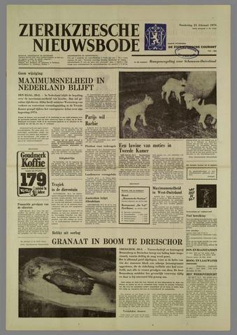 Zierikzeesche Nieuwsbode 1974-02-21