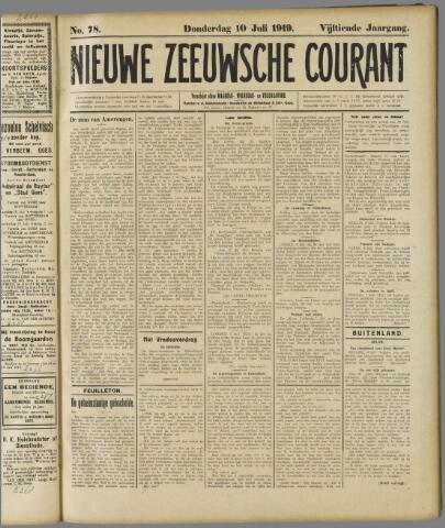 Nieuwe Zeeuwsche Courant 1919-07-10