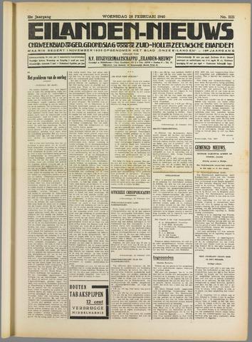 Eilanden-nieuws. Christelijk streekblad op gereformeerde grondslag 1940-02-28