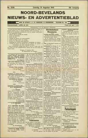 Noord-Bevelands Nieuws- en advertentieblad 1945-09-01