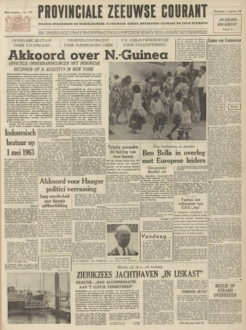 Provinciale Zeeuwse Courant 1962-08-01