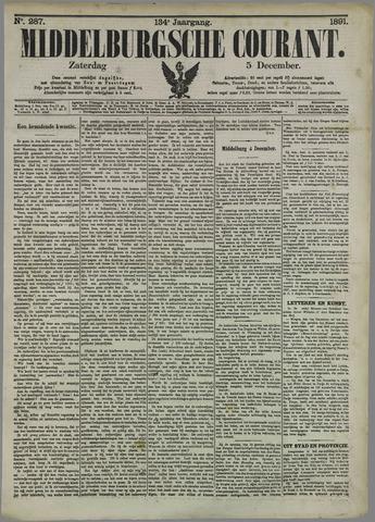 Middelburgsche Courant 1891-12-05