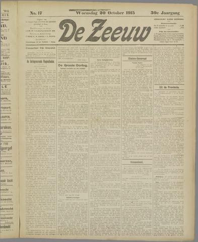 De Zeeuw. Christelijk-historisch nieuwsblad voor Zeeland 1915-10-20