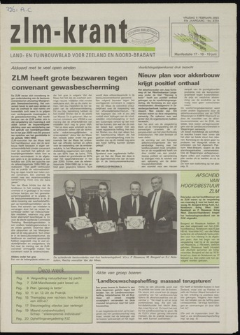 Zeeuwsch landbouwblad ... ZLM land- en tuinbouwblad 1993-02-05
