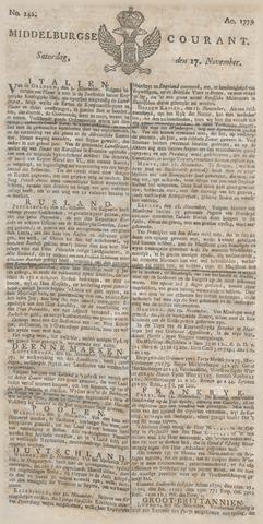 Middelburgsche Courant 1779-11-27