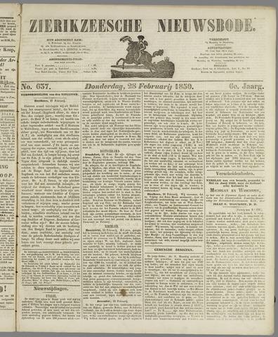 Zierikzeesche Nieuwsbode 1850-02-28