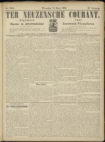 Ter Neuzensche Courant. Algemeen Nieuws- en Advertentieblad voor Zeeuwsch-Vlaanderen / Neuzensche Courant ... (idem) / (Algemeen) nieuws en advertentieblad voor Zeeuwsch-Vlaanderen 1891-03-11