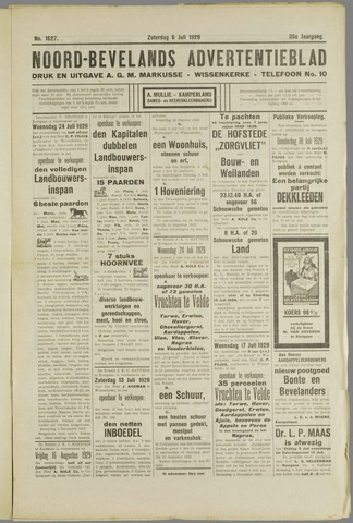 Noord-Bevelands Nieuws- en advertentieblad 1929-07-06