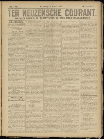 Ter Neuzensche Courant. Algemeen Nieuws- en Advertentieblad voor Zeeuwsch-Vlaanderen / Neuzensche Courant ... (idem) / (Algemeen) nieuws en advertentieblad voor Zeeuwsch-Vlaanderen 1923-03-12