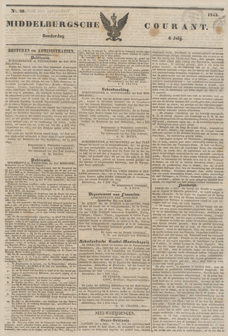 Middelburgsche Courant 1843-07-06