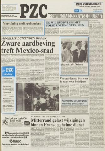 Provinciale Zeeuwse Courant 1985-09-20