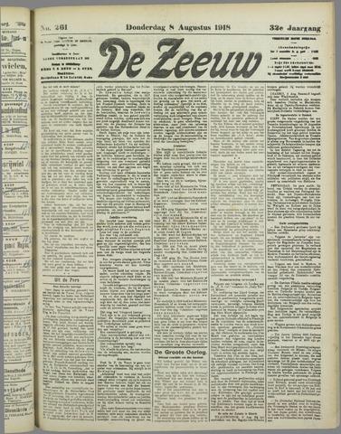 De Zeeuw. Christelijk-historisch nieuwsblad voor Zeeland 1918-08-08