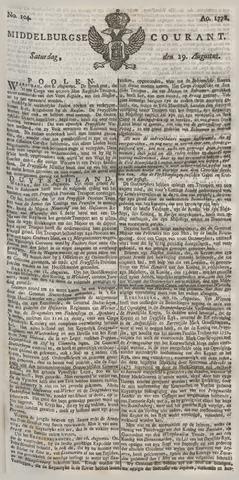 Middelburgsche Courant 1778-08-29