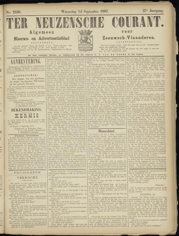 Ter Neuzensche Courant. Algemeen Nieuws- en Advertentieblad voor Zeeuwsch-Vlaanderen / Neuzensche Courant ... (idem) / (Algemeen) nieuws en advertentieblad voor Zeeuwsch-Vlaanderen 1887-09-14