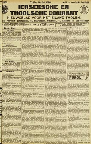 Ierseksche en Thoolsche Courant 1930-07-25