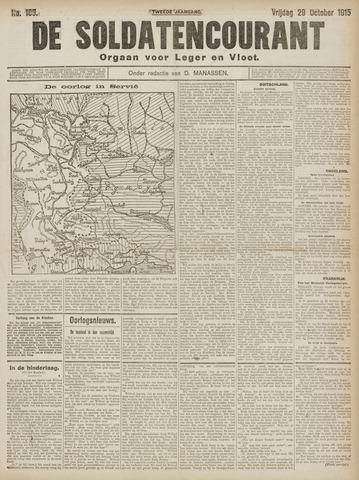 De Soldatencourant. Orgaan voor Leger en Vloot 1915-10-29