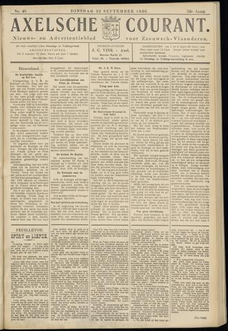 Axelsche Courant 1936-09-22