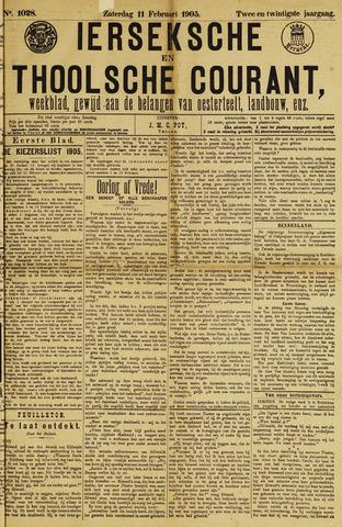 Ierseksche en Thoolsche Courant 1905-02-11