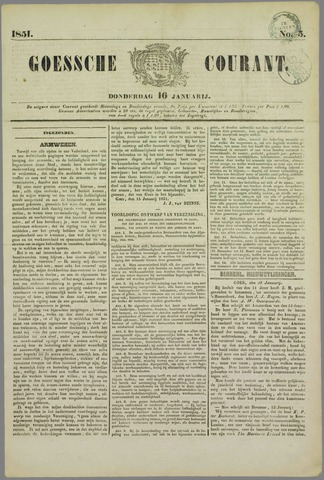 Goessche Courant 1851-01-16
